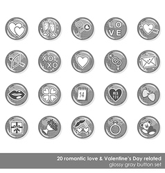 Valentines day love icon set vector image vector image