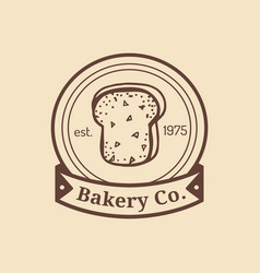 Vintage fresh bread logo retro hipster vector