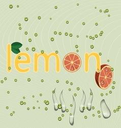 Water lemon vector image vector image