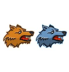 Wolf Head vector image vector image