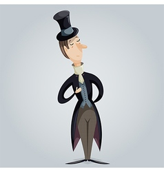 gentleman funny cartoon character vector image
