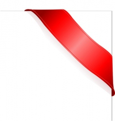 Red ribbon vector