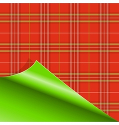 Paper with Tartan pattern vector image