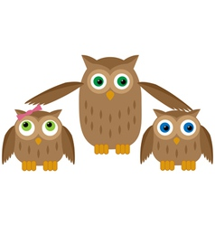 Mom owl vector