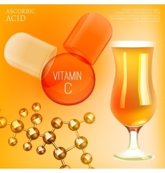 Vitamin c image vector