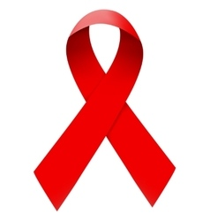 Red ribbon isolated vector