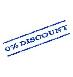0 percent discount watermark stamp vector