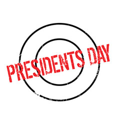 Presidents day rubber stamp vector