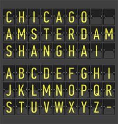 Airport timetable information board display vector image