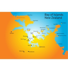 Bay of Island New Zealand vector image
