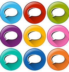 Circle buttons with empty callout templates vector