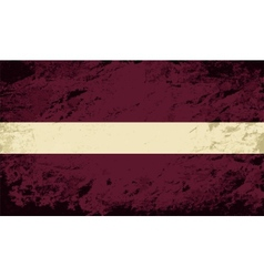 Latvian flag grunge background vector