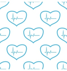 Heartbeat seamless pattern vector
