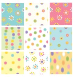 Colorful seamless patterns vector
