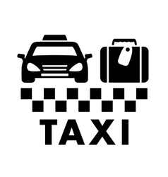 Bag and taxi car icon vector