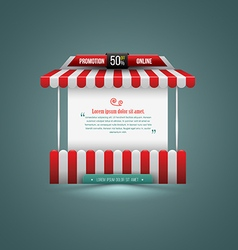 A stall can use for promotion sale vector
