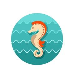 Sea horse icon summer vacation vector