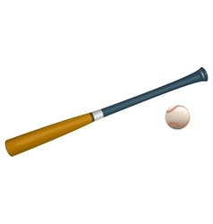Baseball bat and ball sports equipment vector