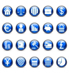 Business and finance symbols vector