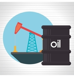 Barrel of petroleum isolated icon design vector