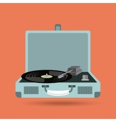 Vinyl player icon retro and music design vector