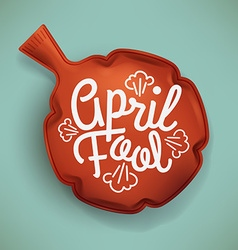 April fool fart cushion vector