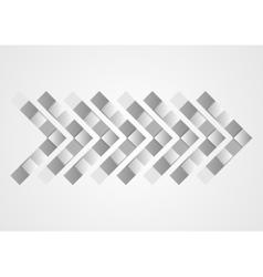 Abstract grey geometric tech arrow design vector