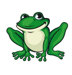 Big green frog vector