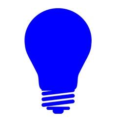 Bulb blu vector