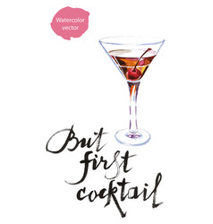 but first cocktail vector image