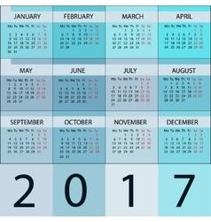 Calendar planner 2017 year vector