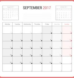 Calendar planner for september 2017 vector