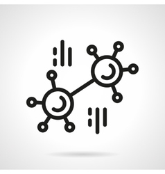 Chemical connection simple line icon vector image
