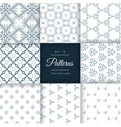 Collection of vintage style pattern design vector