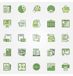 Colorful tax icons vector image vector image