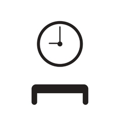 Flat icon in black and white style waiting hall vector