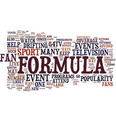 Formula d fans show your support for the sport vector