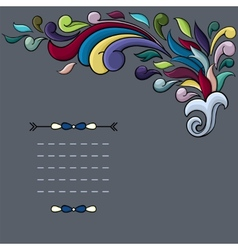 Funky design with bright cartoon swirls vector