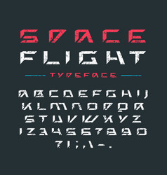 Futuristic font with rust texture vector