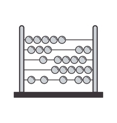 gray silhouette abacus with base and spheres vector image vector image