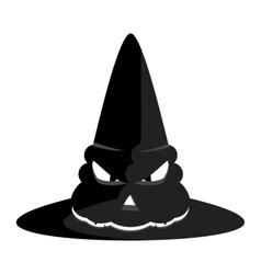 Halloween witch hat vector