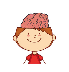Kid with brain character vector