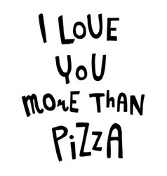 love pizza vector image