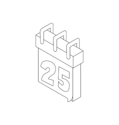 Paper december calender icon outline style vector