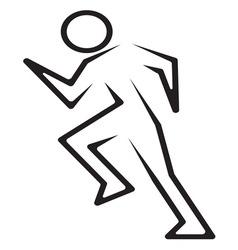 Running man3 vector image