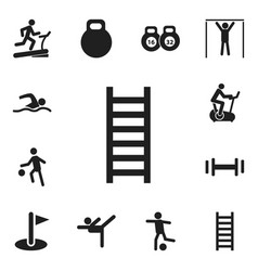 set of 12 editable sport icons includes symbols vector image vector image