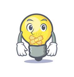 Silent light bulb character cartoon vector