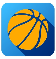 Sport icon with basketball ball in flat style vector image