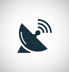 Sputnik antenna icon vector