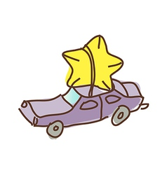The car with star vector image vector image